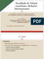 4ª aula QIVPA Adm. Pública, Organização Adm.