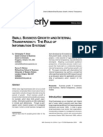 Small Business Growth and Internal Transparency the Role of Information Systems