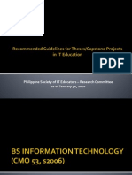 Recommended Guidelines for Theses