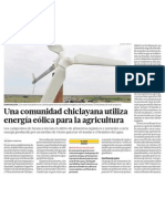 Tecnología y Energía Eólica para la Agricultura en el Perú