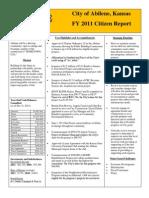 FY 2011 Citizens Report