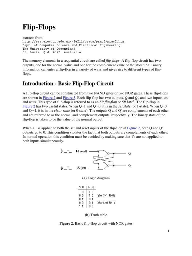 D Flip Flop Electronic Engineering Design Circuit Diagram