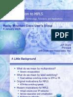 RMCUG Presentation Jan 2008 - MPLS