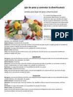 Comidas para bajar de peso y controlar la diverticulosis