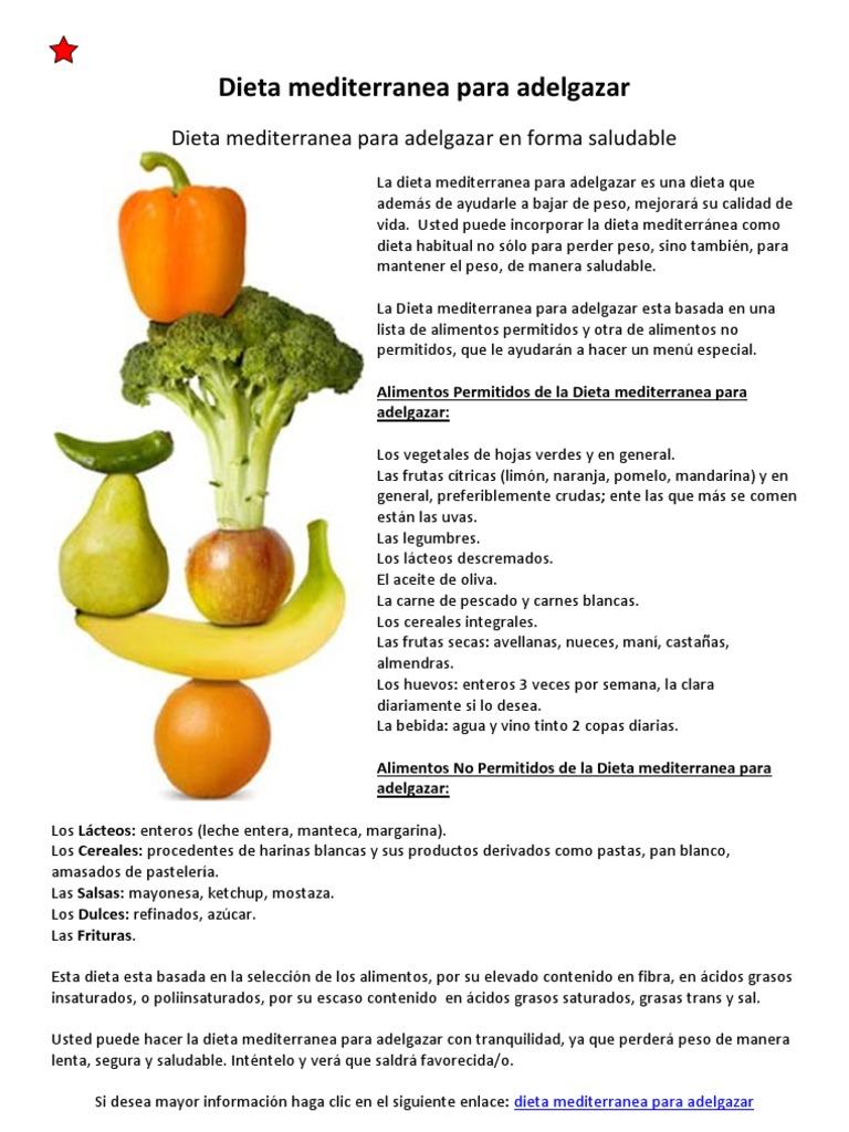 perder peso alimentos recomendados