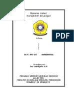 Resume Materi Manajemen Keuangan