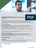 Process Engineer Internship Jan 2012