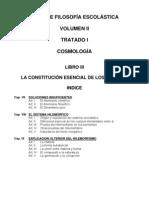 Suma Filosofía Vol II Trat I Lib III- Cosmologia - La Constitucion Esencial de Los Cuerpos