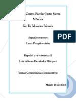 Laura Peregrino Las Competencias Comunicativas Trabajo