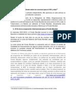 Fondo Mundial, crisis económica financiera mundial y recursos para VIH en Bolivia