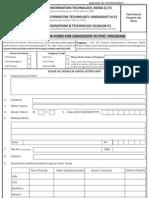Ph.D Application Form 2012