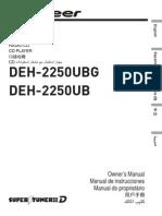 Manual Deh 2250ub