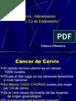 Cancer de Cervix, Adenomiosis y CA En Dome Trio. Dr. Olivares