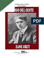 Codigo Del Oeste - Zane Grey