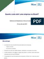 Custos Para Abrir Uma Empresa No Brasil
