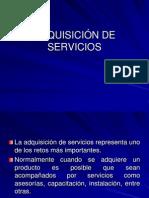 ADQUISICIÓN DE SERVICIOS