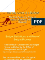 Presentation in the Life of a Budget