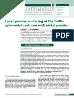 Laser Powder Surfacing of Si Mo SGI With Nickel Powder
