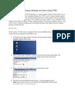 Enable Remote Desktop on Linux Using VNC