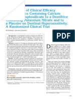 dentinal sesitivity
