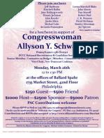 Luncheon for Allyson Schwartz