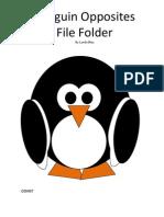 Penguin Opposites File Folder