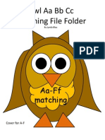 Owl File Folder Alphabet