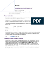 Creating a Simple Formula