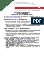 PROX-SVERS Pressure Drop Bulletin