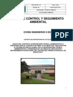 Plan de Control y Seguimiento Al PMA Del Contratista en El Parque Atahualpa