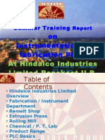 SUMMER TRAINING REPORT HINDALCO INDUSTRIES LIMITED