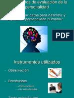 Instrumentos de evaluación de la personalidad