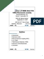 Application of IEEE Std 519-1992 Harmonic Limits