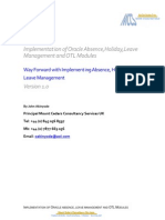 Way Forward With Implementing Absence_Holiday and Leave Management 2