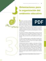Orientacion Para La Organizacon Del Ambiente Educativo