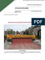 Como Se Faz Uma Rua Na Holanda
