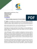 Tildan de plagio propuestas de García Padilla en Agricultura