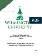 ahs 8100-8200 guided practicum-capstone project manual and program handbook