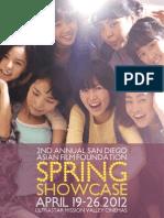 2012 Spring Showcase Program Booklet