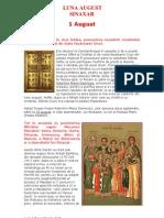 (.) Vietile Sfintilor Ortodoxiei (08) Sinaxarul Lunii August
