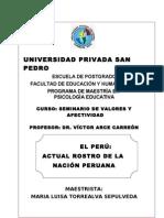 EL PERÚ:ACTUAL ROSTRO DE LA NACIÓN PERUANA