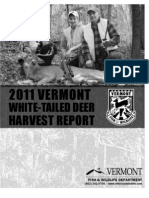 Vermont 2011 White-Tailed Deer Harvest Report