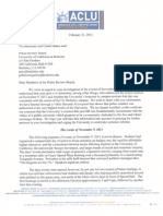 ACLU Letter to UC Berkeley Police Review Board