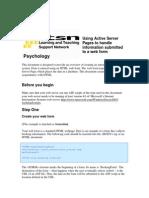 ASP Manual