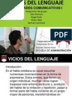 des Comunicativas Vicios Del Lenguaje.