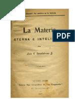La Materia Eterna e Inteligente