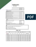 ARK Price List Feb 3000