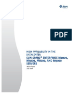 High Availability in the Data Center Sun SPARC Enterprise M4000 M5000 M8000 and M9000