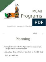 MCAd April Programs