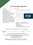 2012 SAAHJ Scholarship Application